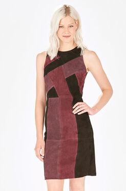 Greyson Combo Dress - Cordovan