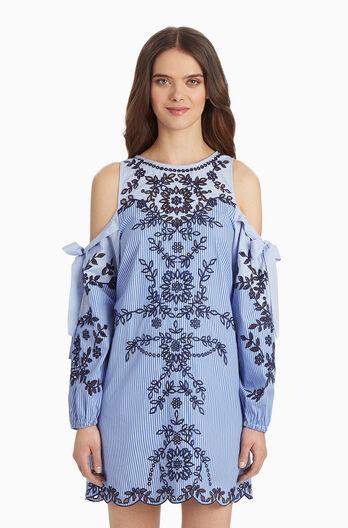 Newton Dress - Pinstripe