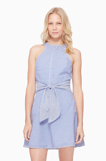 Lauralie Striped Dress - Blue/White
