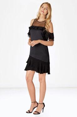 Quinn Combo Dress - Black