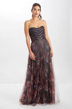 Jacquie Dress - Ruby Ranunculus