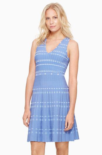 Becky Knit Dress- Light Skye