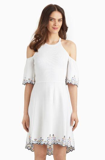 Lorna Knit Dress - White