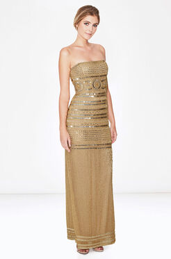 Aubrey Dress - Gold