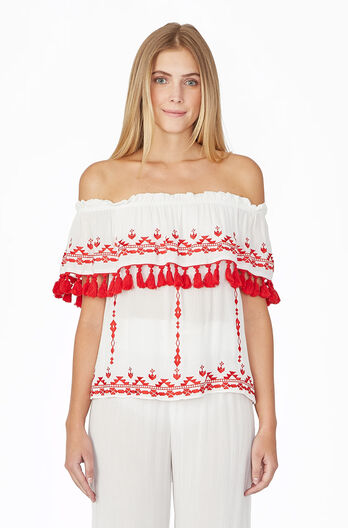 Sandy Blouse - Red