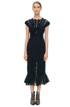 Vien Lace Dress - Black/Navy