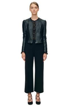 Nappa Leather Jacket - Black