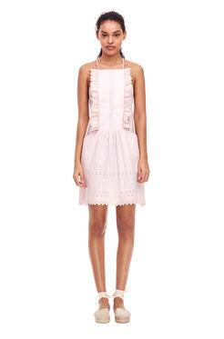La Vie Celsie Eyelet Dress - Shell Pink