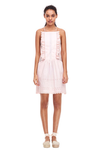 La Vie Celsie Eyelet Dress - Shell Pink
