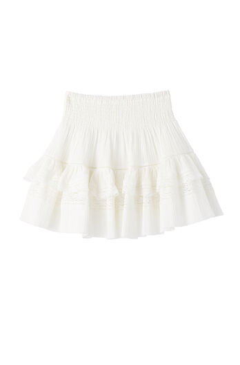 Ruched Gauze Skirt
