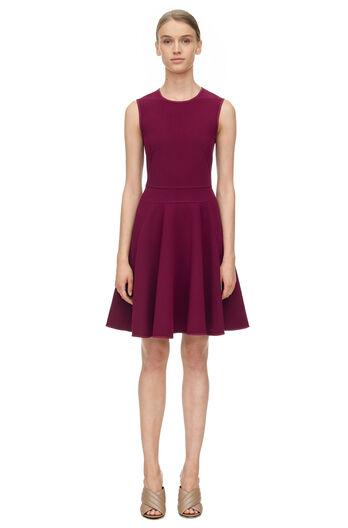 Sleeveless Suiting Dress - Sugar Beet