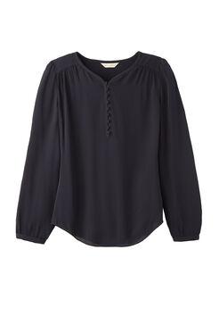 Silk Georgette Button Top