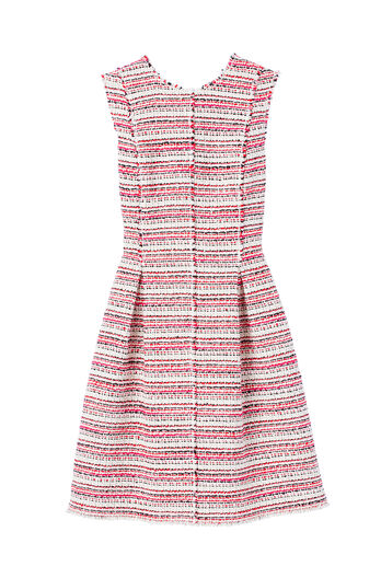 Sleeveless Optic Tweed Dress
