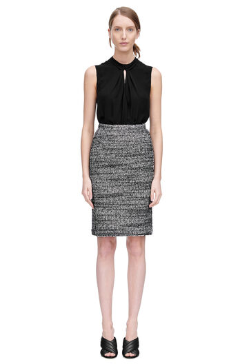 Sleeveless Georgette Knot Top