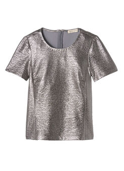Textured Metallic Tee