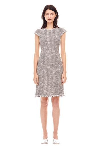 Confetti Tweed Dress - Snow Combo