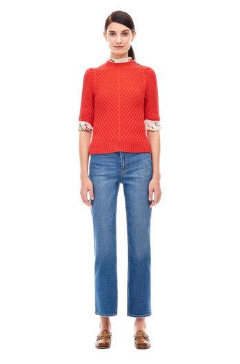 Cotton Merino Pullover - Poppy