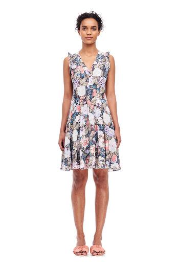 Penelope V-Neck Dress - Coal Combo