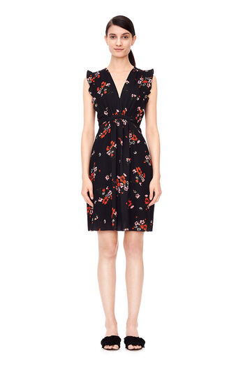 Sleeveless Marguerite Dress - Black