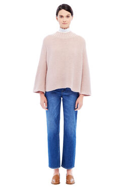 La Vie Mockneck Swing Sweater - Blush