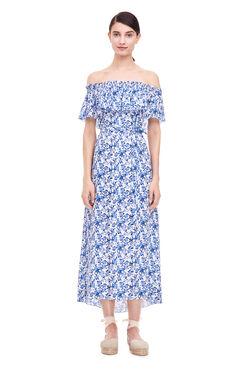 Off-The-Shoulder Aimee Dress - Blue Combo