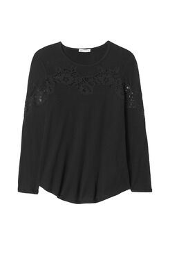 Long Sleeve Tee with Lace