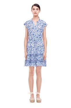 Aimee Shirt Dress - Blue Combo