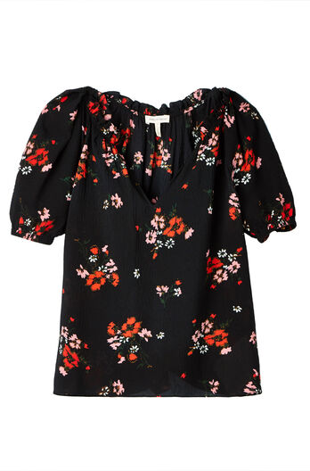 Short Sleeve Marguerite Silk Top