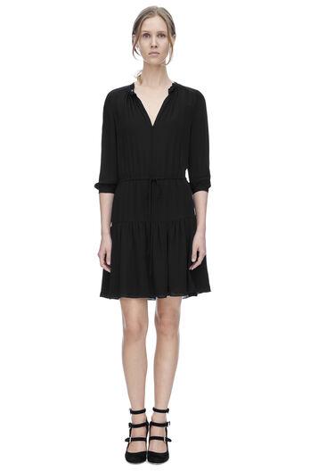 Long Sleeve Double Georgette Dress