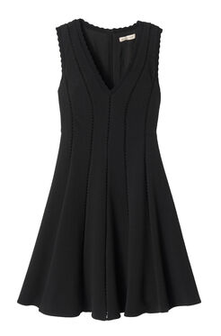 Sleeveless Diamond Texture Dress