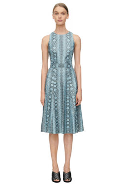 Sleeveless Snake Print Dress - Bluemarine
