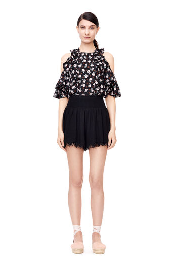 Amora Embroidered Short - Black