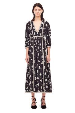 La Vie Blanche Fleur Dress - Black Combo