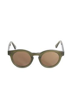 Sunday Somewhere Soelae Semi Round Khaki Sunglasses - Khaki