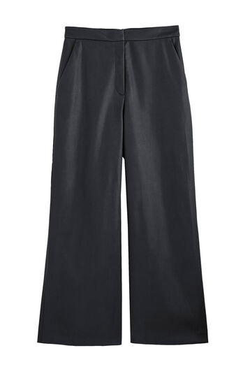 Vegan Leather Cropped Pant