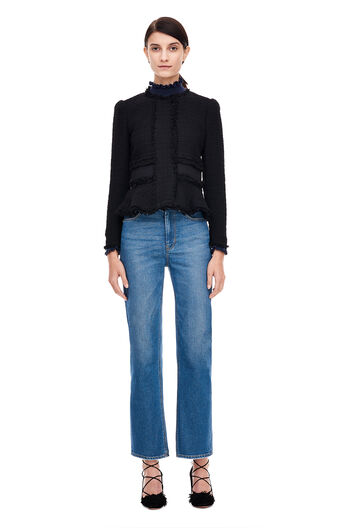 Tweed Rib Jacket - Black