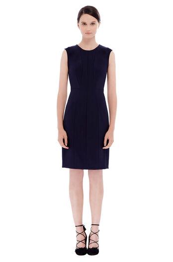 Sleeveless Suit Sheath Dress