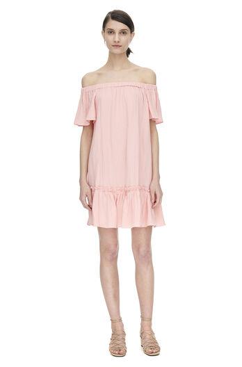 Off Shoulder Gauze Dress
