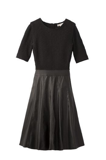Knit Top Vegan Leather Dress