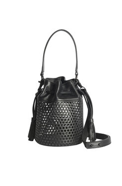 Loefller Randall Mini Industry Bucket Bag - Black