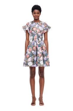 Penelope Ruffle Dress - Coal Combo