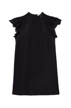 Crepe Lace Dress