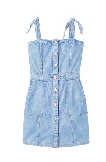La Vie Drapey Denim Dress