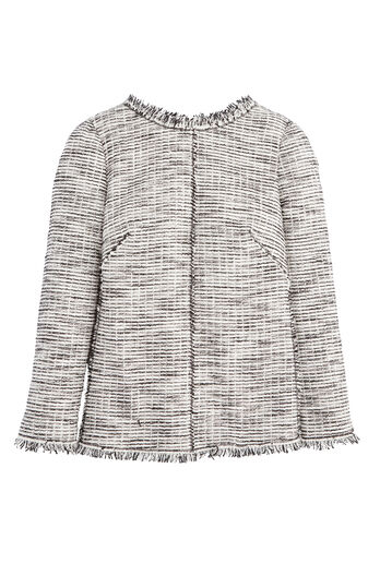 Bouclé Tweed Top