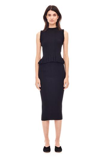 Ribbed Skirt - Black