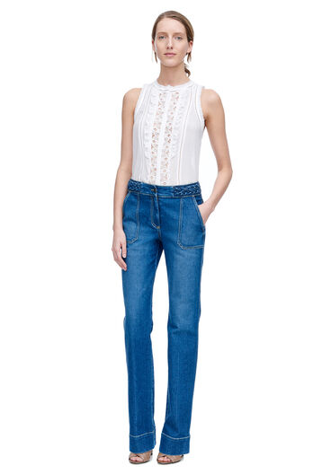 Sleeveless Voile Lace Top