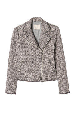 Structured Stretch Tweed Jacket