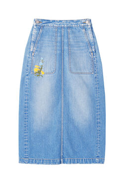 La Vie Embroidered Denim Skirt