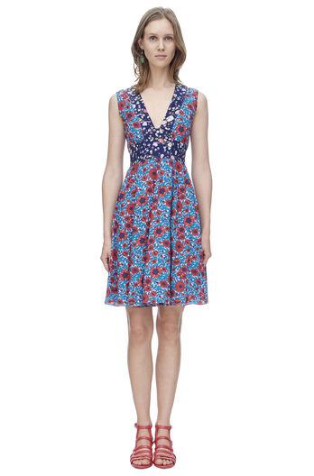 Sleeveless Lindsay Floral V-Neck Dress