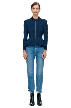 Boucle Tweed Jacket - Navy